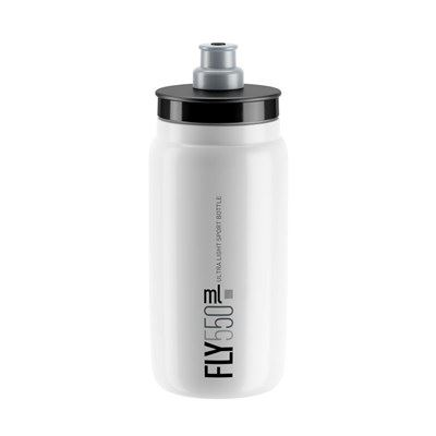 BIDON ELITE FLY BLANCO LOGO GRIS 550 ml
