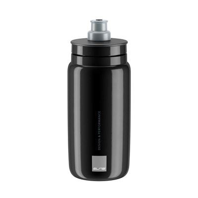 BIDON ELITE FLY NEGRO LOGO GRIS 550 ml