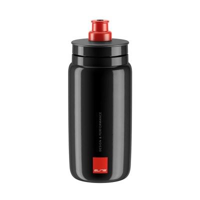 BIDON ELITE FLY NEGRO LOGO ROJO 550 ml