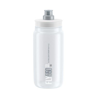 BIDON ELITE FLY TRANSPARENTE LOGO GRIS 550 ml