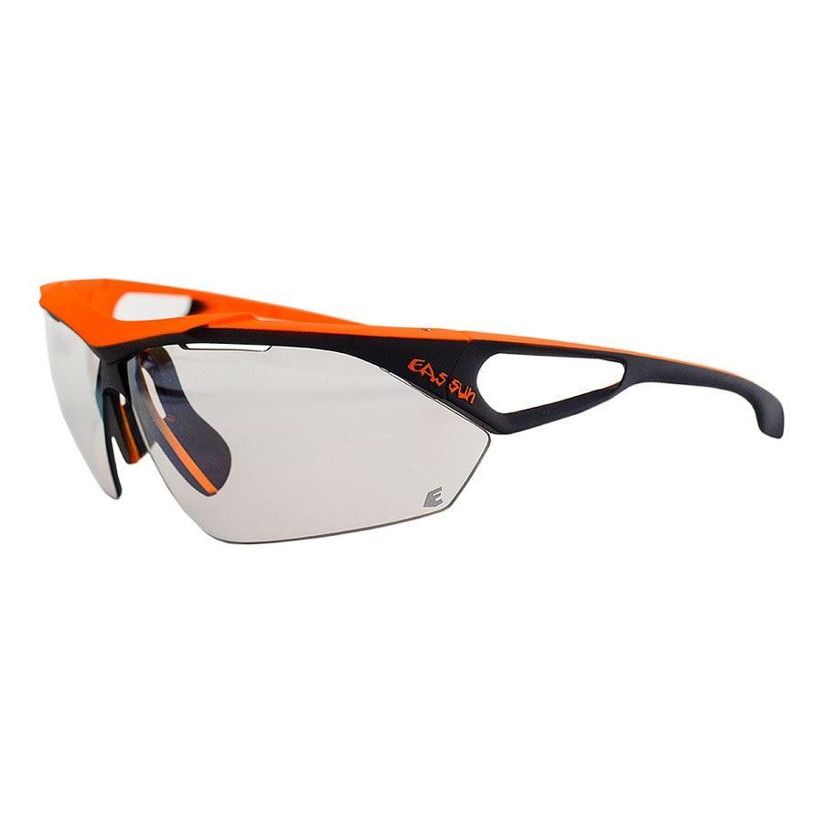 Gafas Eassun Monster negro naranja con lentes gris fotocromáticas