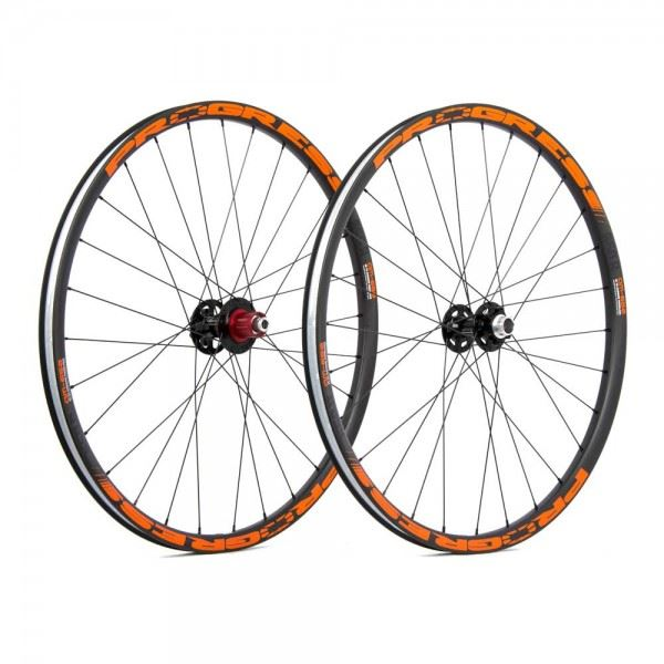 Ruedas Progress JGO AM-650 27.5 9/15/20x100 Y 12x142 Shimano Naranja
