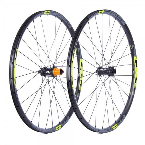 Ruedas Progress JGO CB3 Plus 29 15x110 Y 12x148 Boost Shimano Amarillo